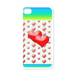 Hearts 2 Apple Iphone 4 Case (white)