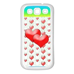 Hearts 2 Samsung Galaxy S3 Back Case (White)