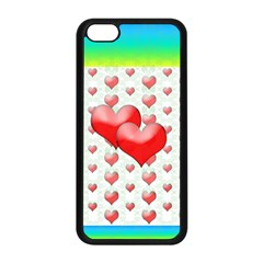 Hearts 2 Apple iPhone 5C Seamless Case (Black)
