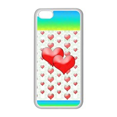 Hearts 2 Apple iPhone 5C Seamless Case (White)