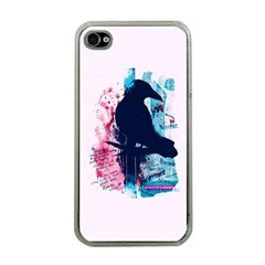 Qouth the Raven...Answer Your Phone. Apple iPhone 4 Case (Clear)