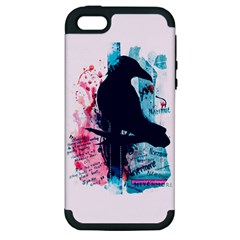 Qouth the Raven...Answer Your Phone. Apple iPhone 5 Hardshell Case (PC+Silicone)