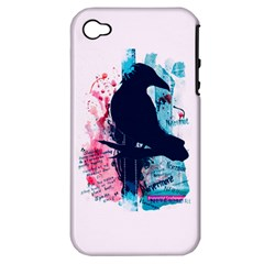 Qouth the Raven...Answer Your Phone. Apple iPhone 4/4S Hardshell Case (PC+Silicone)
