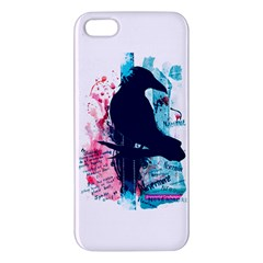 Qouth the Raven...Answer Your Phone. Apple iPhone 5 Premium Hardshell Case
