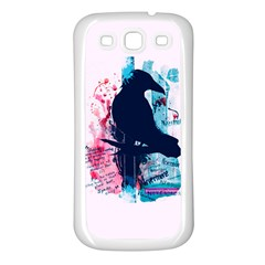 Qouth the Raven...Answer Your Phone. Samsung Galaxy S3 Back Case (White)