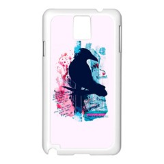 Qouth the Raven...Answer Your Phone. Samsung Galaxy Note 3 N9005 Case (White)
