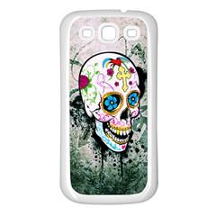 sUGAR sKULL Samsung Galaxy S3 Back Case (White)