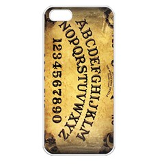 Call me on my Ouija Board Apple iPhone 5 Seamless Case (White)