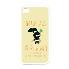 Ninja Bunny Apple Iphone 4 Case (white)