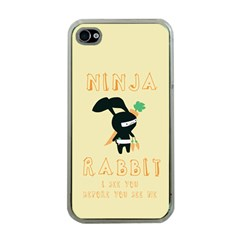 Ninja Bunny Apple iPhone 4 Case (Clear)