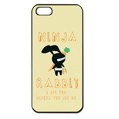 Ninja Bunny Apple Iphone 5 Seamless Case (black)