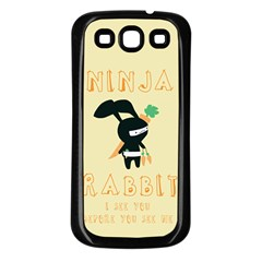 Ninja Bunny Samsung Galaxy S3 Back Case (black)
