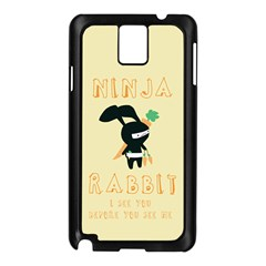 Ninja Bunny Samsung Galaxy Note 3 N9005 Case (Black)