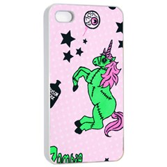 Zombie Unicorn Apple iPhone 4/4s Seamless Case (White)