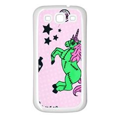 Zombie Unicorn Samsung Galaxy S3 Back Case (White)