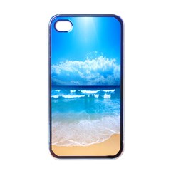 look at your phone and relax Apple iPhone 4 Case (Black)