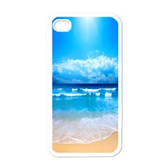 Look At Your Phone And Relax Apple Iphone 4 Case (white)