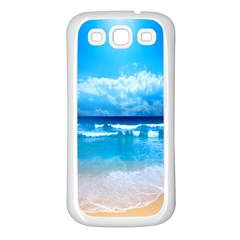 Look At Your Phone And Relax Samsung Galaxy S3 Back Case (white)