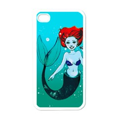 Mermaid Greetings Apple Iphone 4 Case (white)