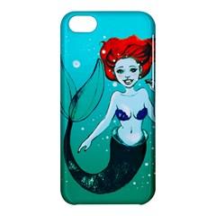 Mermaid Greetings Apple iPhone 5C Hardshell Case