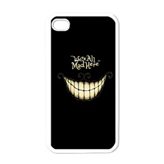 We Are All Mad Here Apple iPhone 4 Case (White)