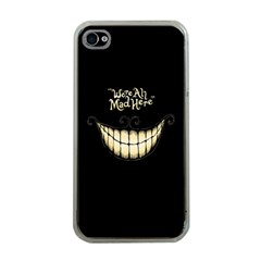 We Are All Mad Here Apple Iphone 4 Case (clear)