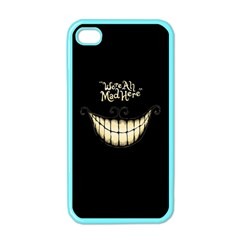 We Are All Mad Here Apple Iphone 4 Case (color)