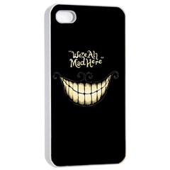 We Are All Mad Here Apple Iphone 4/4s Seamless Case (white)