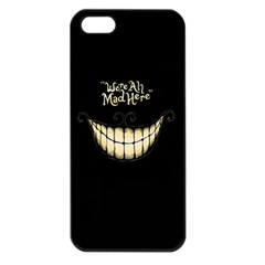 We Are All Mad Here Apple Iphone 5 Seamless Case (black)