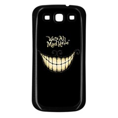We Are All Mad Here Samsung Galaxy S3 Back Case (Black)