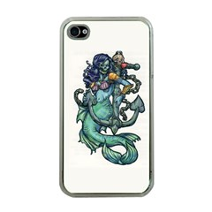 Zombie Mermaid Apple iPhone 4 Case (Clear)