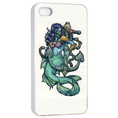 Zombie Mermaid Apple iPhone 4/4s Seamless Case (White)