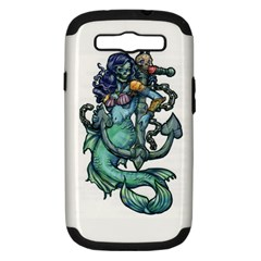 Zombie Mermaid Samsung Galaxy S III Hardshell Case (PC+Silicone)