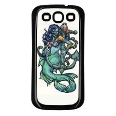 Zombie Mermaid Samsung Galaxy S3 Back Case (Black)
