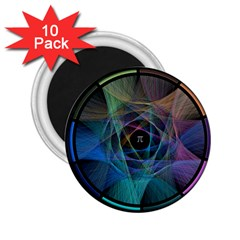 Pi Visualized 2.25  Button Magnet (10 pack)