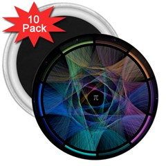 Pi Visualized 3  Button Magnet (10 Pack)