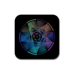 Pi Visualized Drink Coasters 4 Pack (Square)