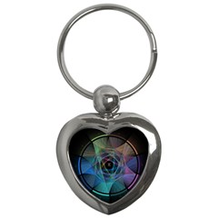 Pi Visualized Key Chain (Heart)