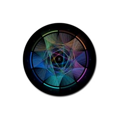 Pi Visualized Drink Coasters 4 Pack (round)