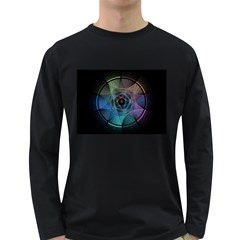 Pi Visualized Men s Long Sleeve T-shirt (Dark Colored)