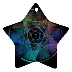 Pi Visualized Star Ornament (Two Sides)