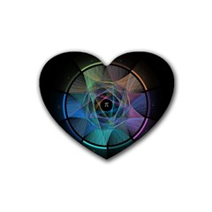 Pi Visualized Drink Coasters 4 Pack (Heart)