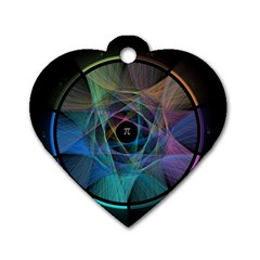 Pi Visualized Dog Tag Heart (two Sided)