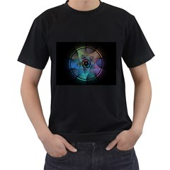 Pi Visualized Men s T-shirt (Black)