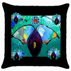 my cup of teas  May Black Throw Pillow Case