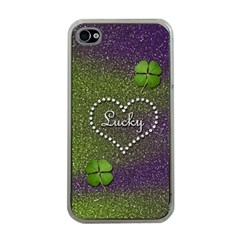 Lucky Girl Apple Iphone 4 Case (clear)
