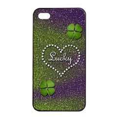 Lucky Girl Apple iPhone 4/4s Seamless Case (Black)