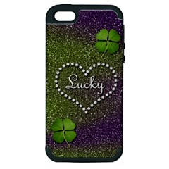 Lucky Girl Apple Iphone 5 Hardshell Case (pc+silicone)