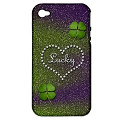 Lucky Girl Apple iPhone 4/4S Hardshell Case (PC+Silicone)