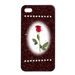 Pretty As A Rose Apple Iphone 4/4s Seamless Case (black)